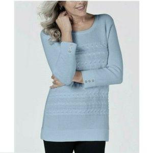 Karen Scott Medium Blue Pullover Sweater 4AA26
